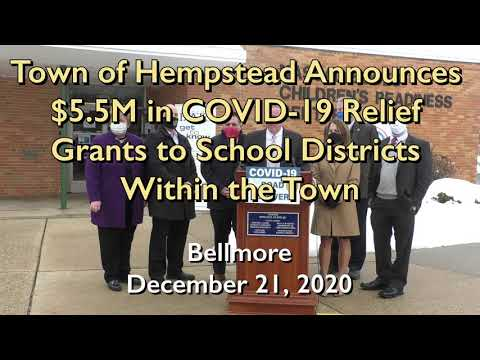 Town of hempstead announces $5.5m in covid-19 relief grants to school districts within the town