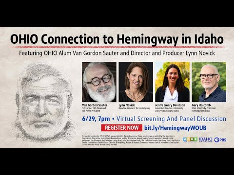 """""""ohio connection to hemingway in idaho"""" screening and panel discussion"""