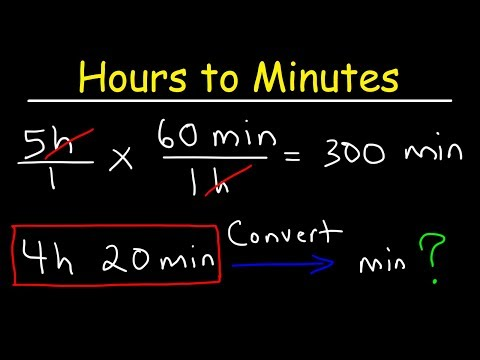 Converting hours to minutes and minutes to hours