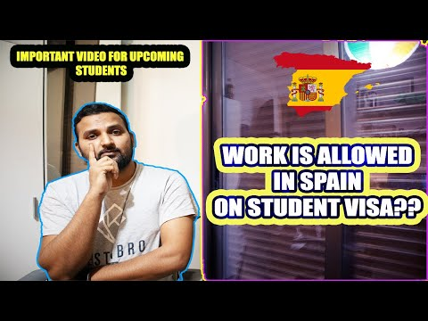Work is allowed on a student visa in spain?? | important msg | mahi vlogs
