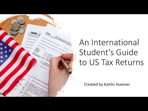 An international student's guide to us tax returns
