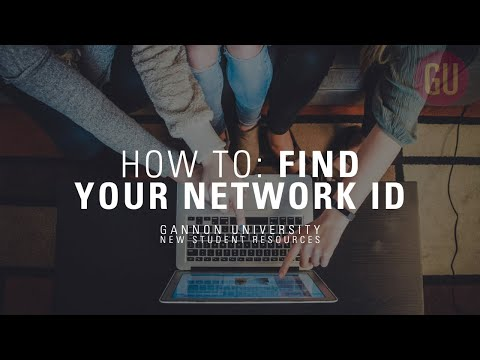 How to find your network id | gannon accepted student resources