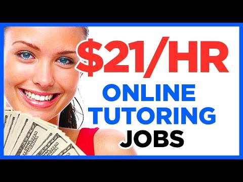 Online tutoring jobs for 2018 that pay great