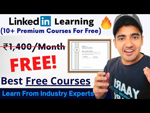 Linkedin learning free courses with certificate | no subscription required | any student can apply