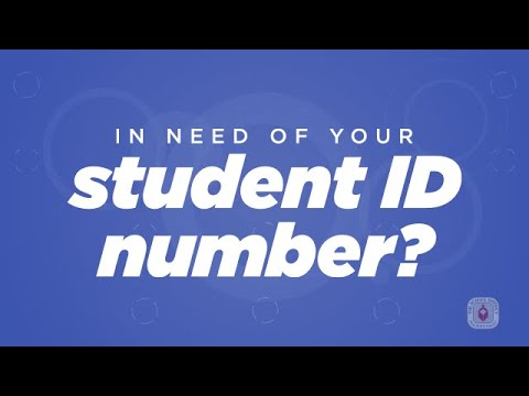 Find your student id number
