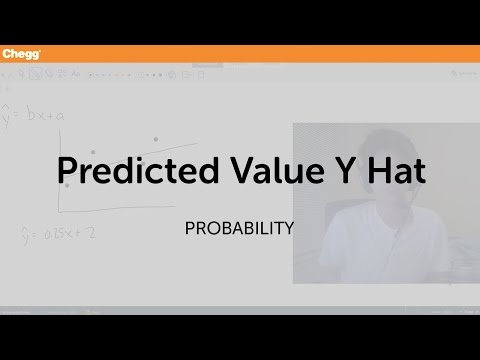 Predicted value y hat   statistics and probability   chegg tutors