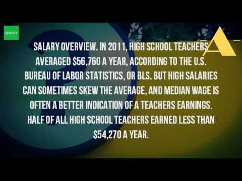 How much to high school teachers get paid?