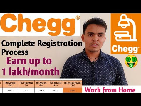 Chegg q&a registration process    chegg registration process    payment proof    work from home