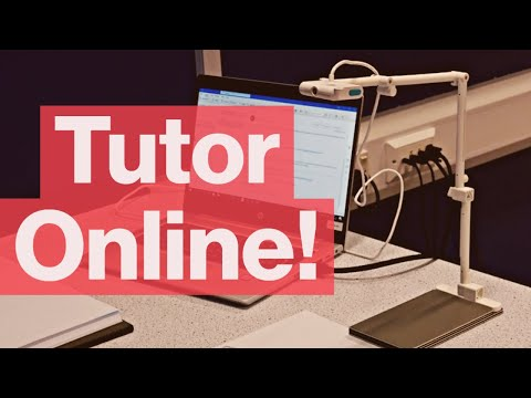 How to tutor online - give feedback on student work in online tutoring using a document camera!