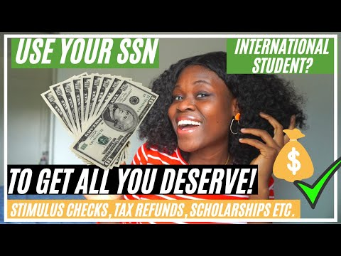 Use your ssn to get all you deserve!🤑 international student?how to!(stimulus checks,tax refunds etc)