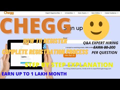 Chegg registration   chegg registration process 2021   how to become a q&a expert   work from home