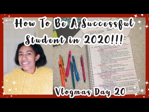 How to be a successful student in 2020 || from a straight c to straight a student || vlogmas day 20