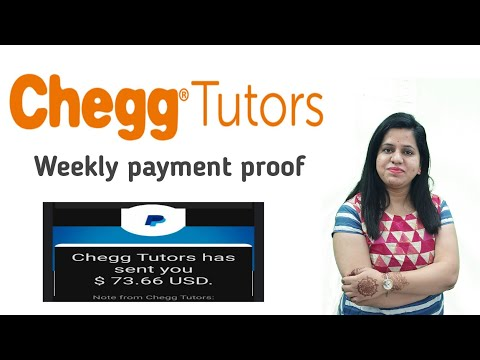 How much i earned from chegg tutors in a week | my payment proof