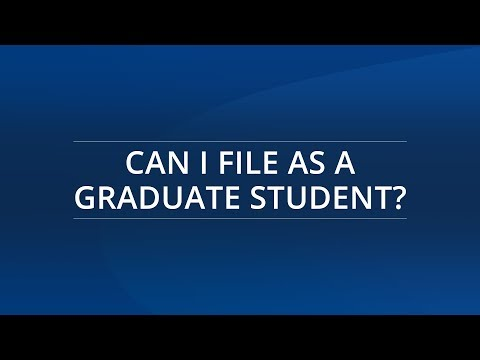 Can i file as a graduate student?