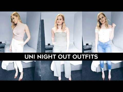 3 uni night-out outfit ideas with river island | caitlin rose
