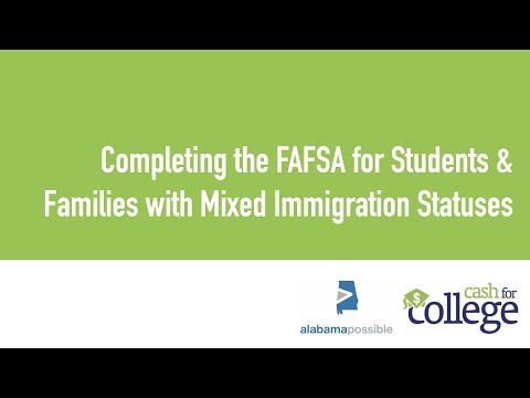 Completing the fafsa for students & families with mixed immigration statuses
