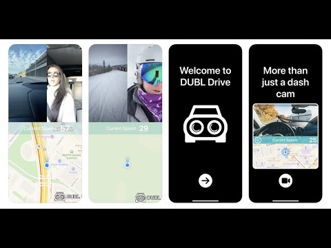 Dubl drive app turns your iphone into dual camera dash cam complete with collision detection & more