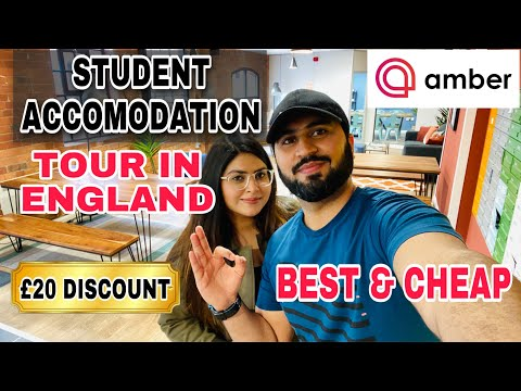 Best & cheap student accommodation tour in uk| how to book student accommodation & get £20 discount