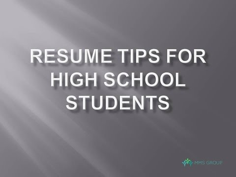 5 resume tips for high school students
