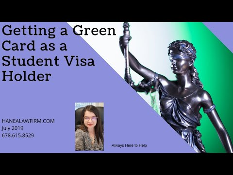 Changing your student visa to a green card