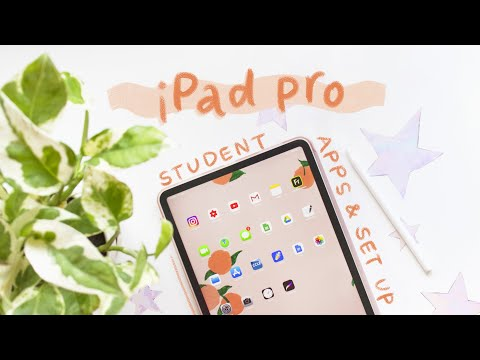 Ipad pro unboxing current setup 🍑 apps and accessories i use for school