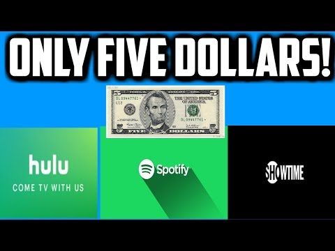 Spotify premium, hulu, and showtime for five dollars a month...college students #savemoney