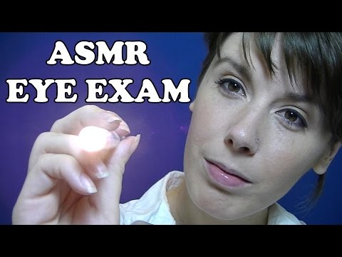 Asmr eye exam #2: a medical role play with personal attention