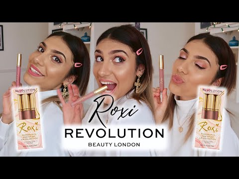 Testing roxi x revolution ride or die lip collection collaboration by roxxsaurus | swatches & review