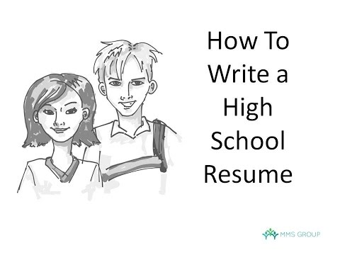 How to write a resume high school example