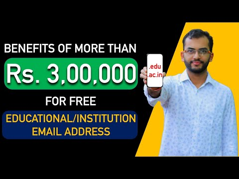 Benefits of more than rs 3,00,000 from educational/institute email address 🔥🔥🔥 | how to get this?