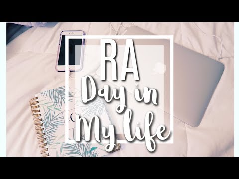 Ra day in my life: resident advisor edition!