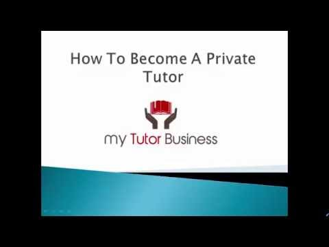 How to become a tutor - 8 tips