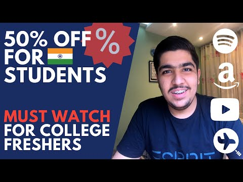 Best student deals in india | upto 50% off on music, amazon, laptop | must watch for freshers