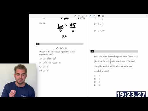 Star tutors sat series: timed math without a calculator test (april 2019 in-school sat exam)