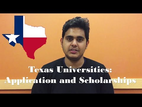 Texas universities: application and scholarships   $1000 scholarship enables in-state tuition?
