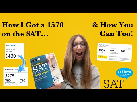 How to get 1550 on the sat without tutor (how i got a 1570) | my study plan, sat test prep, tips