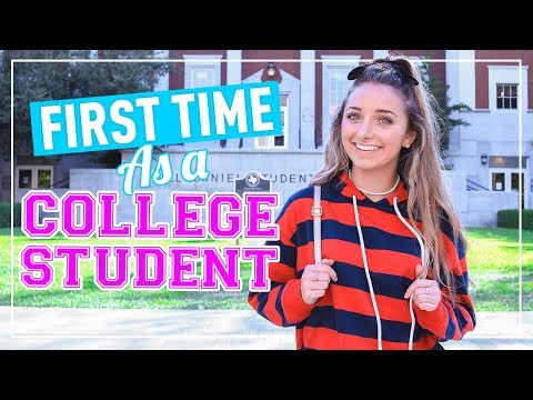 Day in the life of a college student!   university freshman daily routine
