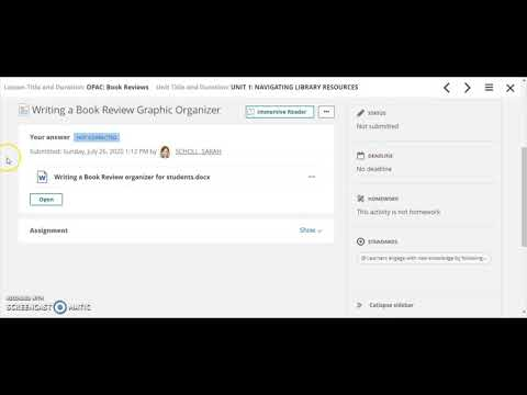How does itslearning assignment work for students?