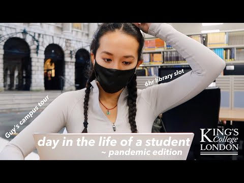 Day in the life of a university student at kings college london - pandemic vlog