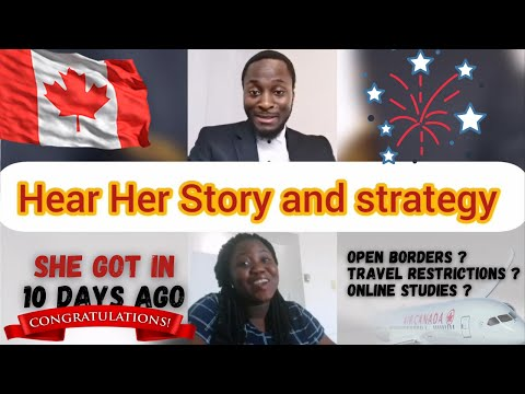 August 2020 canada student visa story: she got approved and was allowed to enter canada