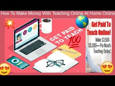 How to make money with teaching online at home online tutor | teacher life