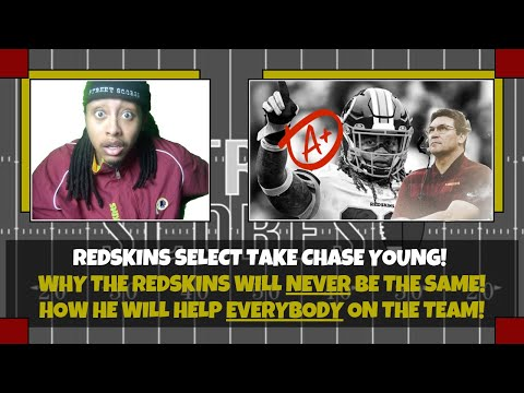 👍it's a celebration! washington redskins select defensive end chase young! future hall of famer?! 👍
