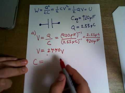 A parallel-plate air capacitor has a capacitance of the charge on each plate is