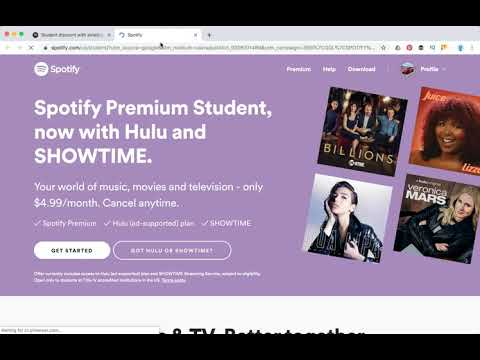 How to change spotify to student?