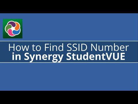 How to find your ssid number in synergy studentvue