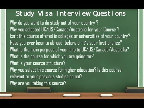 Visa interview tricks and questions plus answers